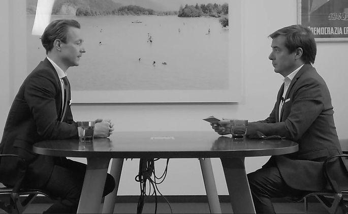 Gernot Blümel im Interview mit Rainer Nowak