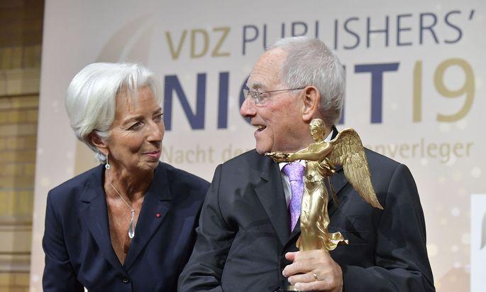 Christine Lagarde hielt in Berlin eine Laudatio auf Ex-Finanzminister Wolfgang Schäuble
