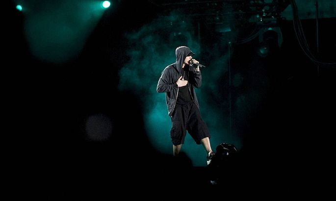 April 16 2012 Indio California U S Eminem makes a guest appearance during the 2012 Coachella