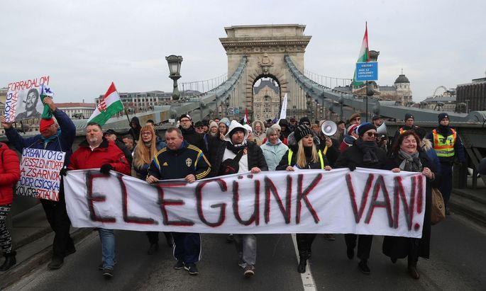 Demonstrationen in Budapest