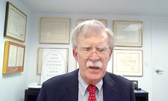 Das Interview mit dem ehemaligen US-Sicherheitsberater John Bolton fand via Skype statt.