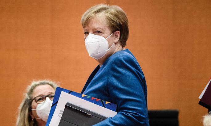 Angela Merkel vergangene Woche vor einer Regierungssitzung in Berlin.