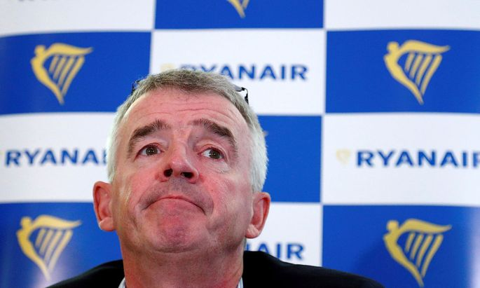 FILE PHOTO: Ryanair CEO O'Leary holds news conference in Machelen near Brussels