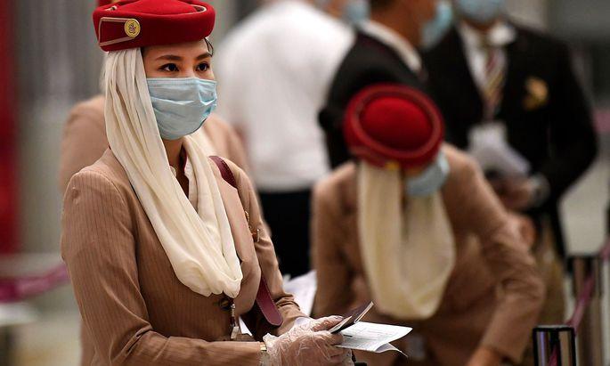 Flugpersonal der Emirates.