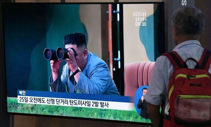 Breaking News in Seoul. In Südkorea ist man über den Raketentest des Diktators Kim Jong-un entsetzt.