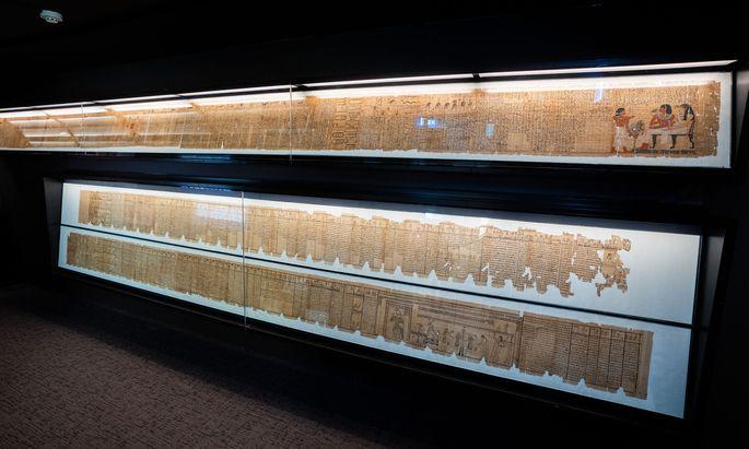 Blick in die Räumlichkeiten des Papyrusmuseums