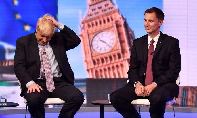 Boris Johnson und Außenminister Jeremy Hunt könnten sich für die Stichwahl der Parteibasis qualifizieren