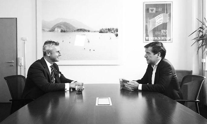 """Norbert Hofer im Gespräch mit """"Presse""""-Herausgeber Rainer Nowak"""