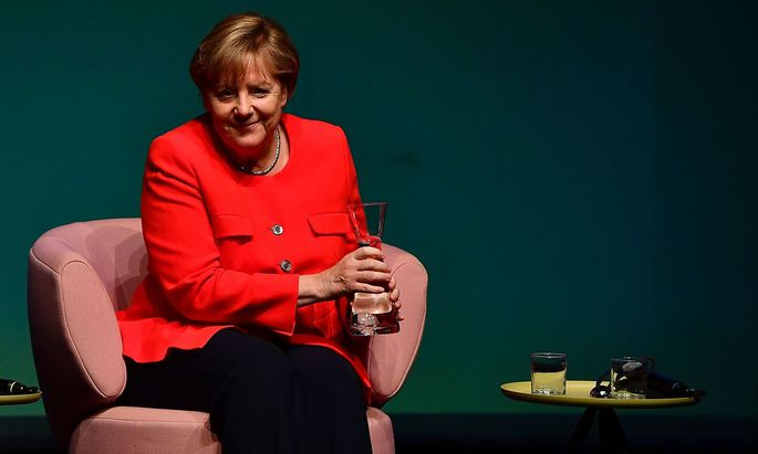 """Angela Merkel stellte sich den Fragen der """"Brigitte"""" vor Live-Publikum in Berlin."""