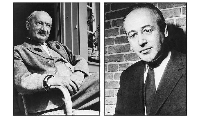 Versprachen sich viel von ihrem Treffen 1967: Martin Heidegger und Paul Celan.