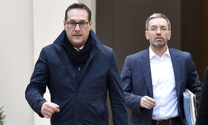 Vizekanzler Strache und Innenminister Kickl
