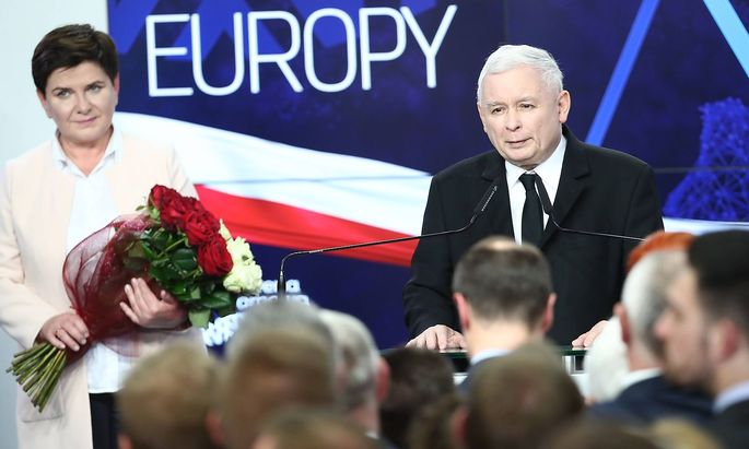 Europawahl 2019 PiS gewinnt in Polen The European Parliament election evening at Law and Justice he