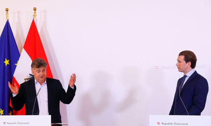 Kanzler Sebastian Kurz und sein Vize Werner Kogler