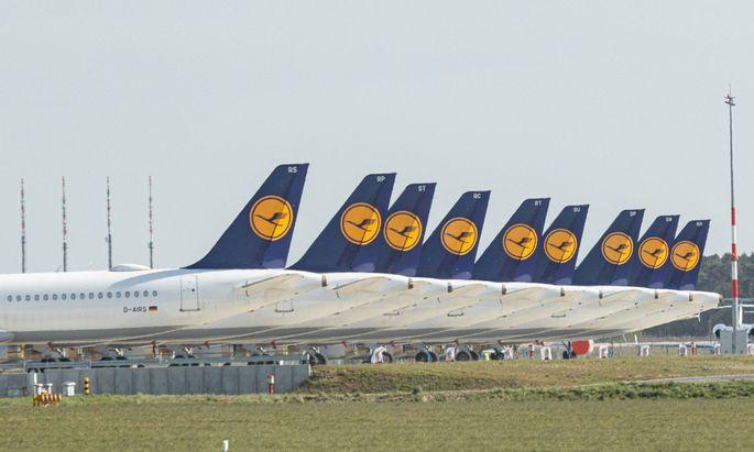 Die Lufthansa nutzte den neuen Berliner Flughafen während der Coronakrise als Parkplatz.
