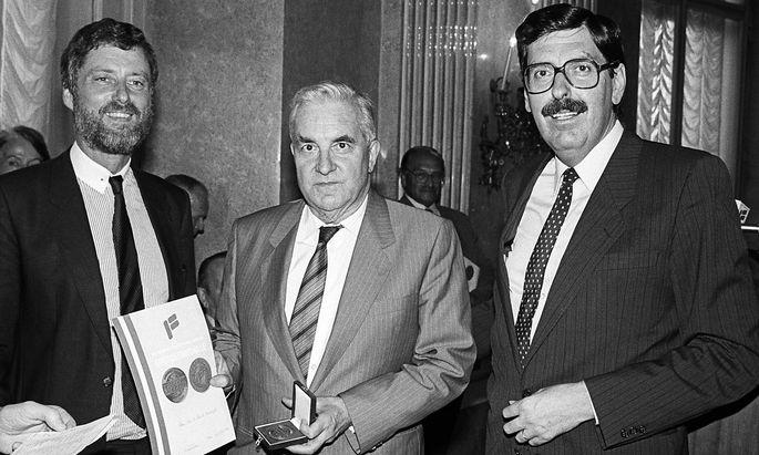 Holger Bauer, Tassilo Broesigke und Norbert Steger