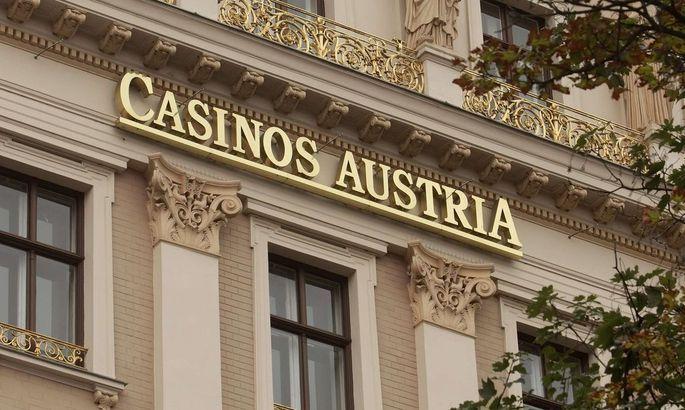 Logo an der Zentrale der Casinos Austria