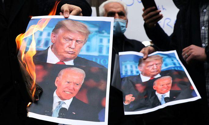 Auch Joe Biden wird es mit dem Iran nicht leicht haben - besonders nach dem jüngsten Anschlag auf Atomphysiker Mohsen Fakhrizadeh.