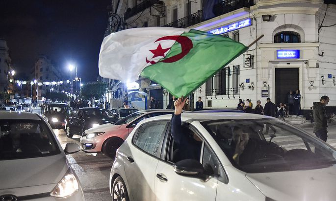 Freudenkundgebungen am Montagabend in Algier