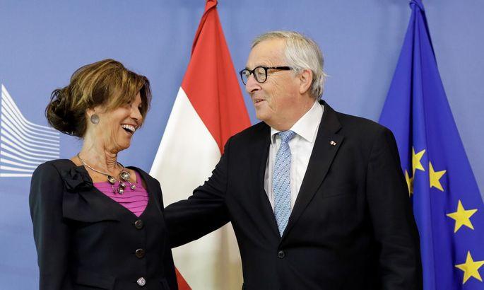 Bundeskanzlerin Brigitte Bierlein bei Kommissionschef Jean-Claude Juncker