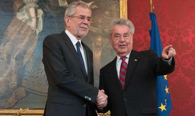 Van der Bellen und Fischer in der Hofburg