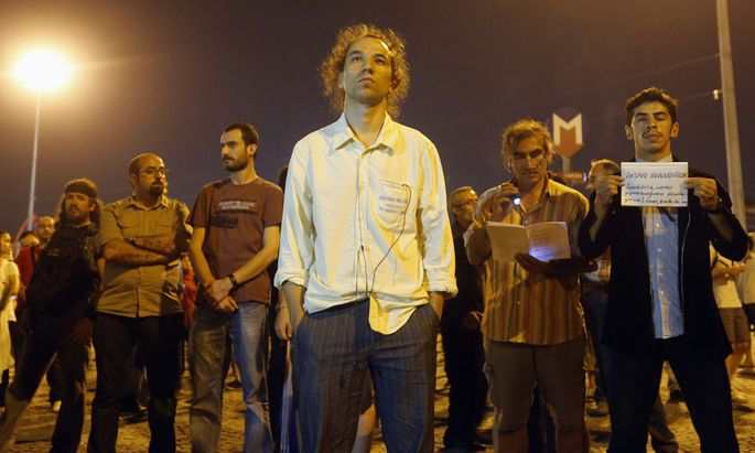 Stummer Protest gegen Erdogan
