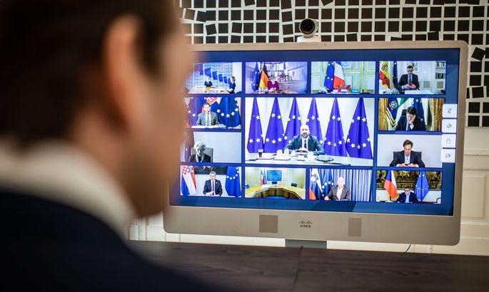 VIDEO-GIPFEL DER EU-STAATS- UND REGIERUNGSCHEFS