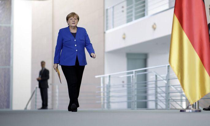 Angela Merkel am Montag