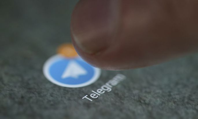 FILE PHOTO: The Telegram app logo is seen on a smartphone in this illustration