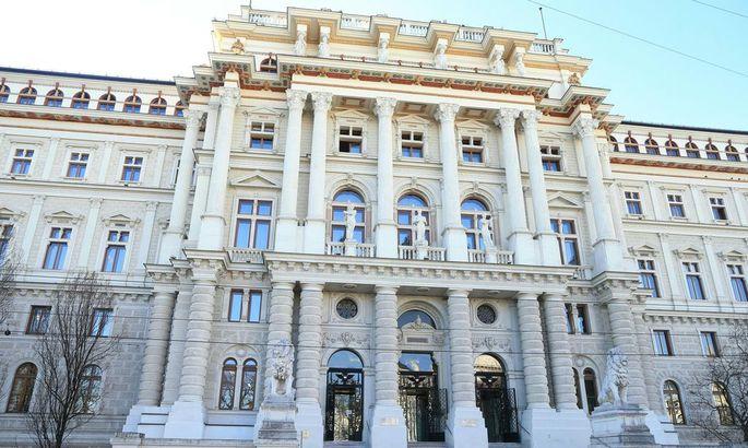 Der Justizpalast, Sitz des OGHs und des Oberlandesgerichts Wien
