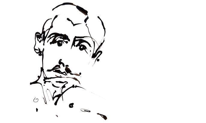 Porträt von Marcel Proust (1871-1922)