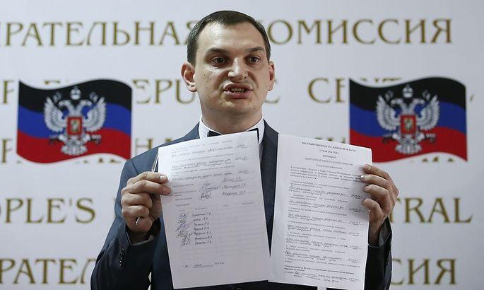 Separatist Roman Liagin spricht sich für eine Aufnahme der Region in die Russische Föderation aus.