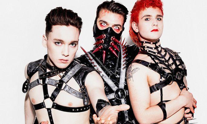 """Die isländische Fetisch-Rock-Band Hatari mischt Industrialsounds mit Discogesäusel – und ist der heurige Favorit des """"Presse""""-Popkritikers."""