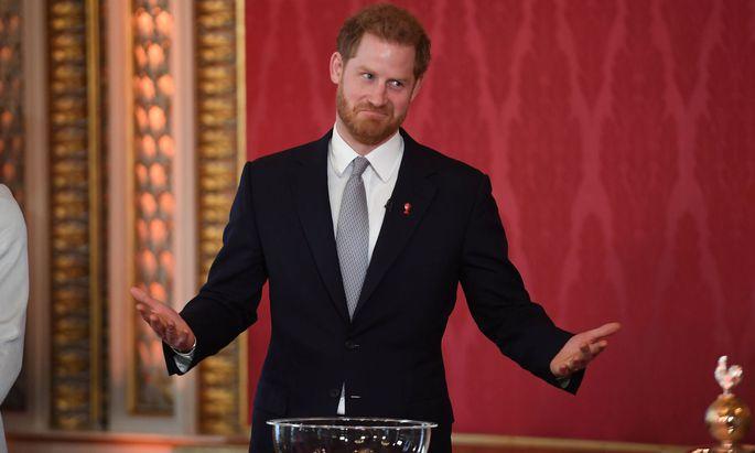 Prinz Harry scheint wieder gute Laune zu haben.