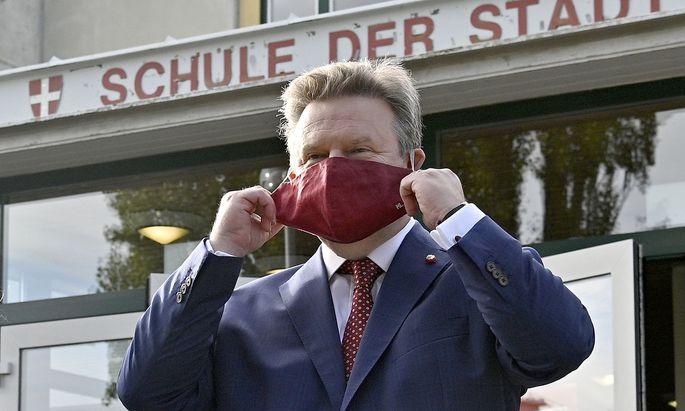 Michael Ludwig nach der Stimmabgabe zur Wien-Wahl 2020