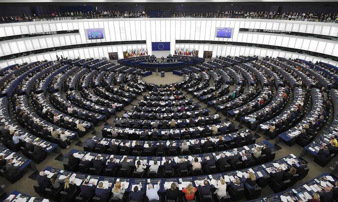 Das EU-Parlament in Strassburg am Tag der Abstimmung über das neue Urheberrecht.