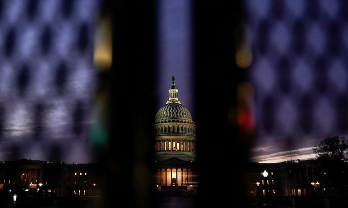 The U.S. Capitol is seen as Democratic lawmakers draw up an article of impeachment in Washington