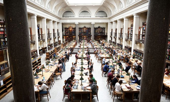 Der Lesesaal der Hauptuni Wien