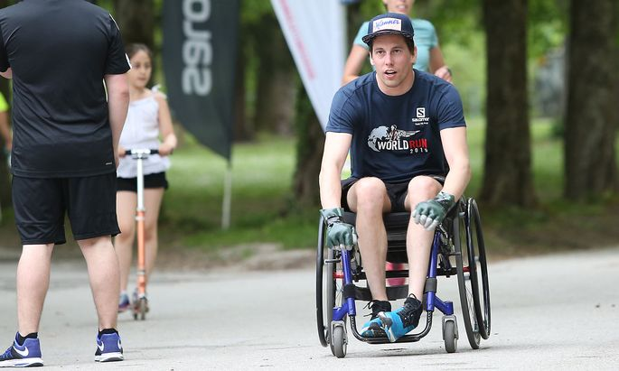 Lukas Müller beim Wings-for-Life-Run 2018