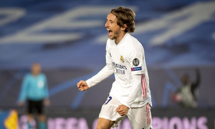 Luka Modric (Real Madrid, 10), GER, Real Madrid vs. Borussia Moenchengladbach, Fussball, Champions League, Gruppenspiel
