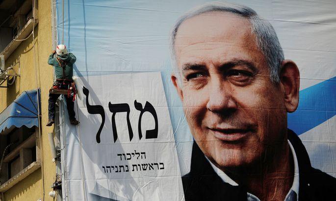 Das Image des Impfweltmeisters. Benjamin Netanjahu inszeniert sich im Wahlkampf als der Mann, der sein Land von dem Virus befreit hat.