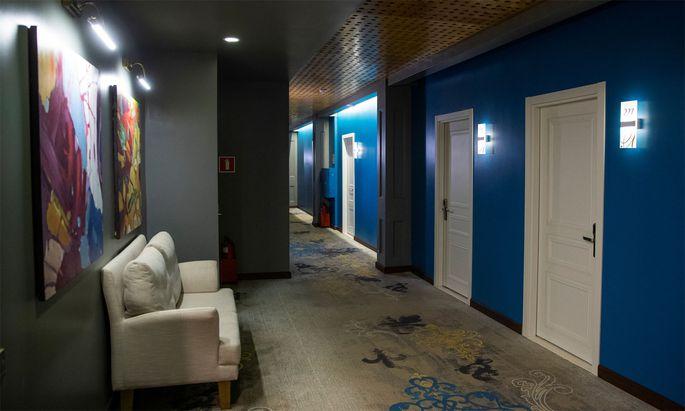 Das Hotel in Tomsk, in dem Nawalny übernachtete.