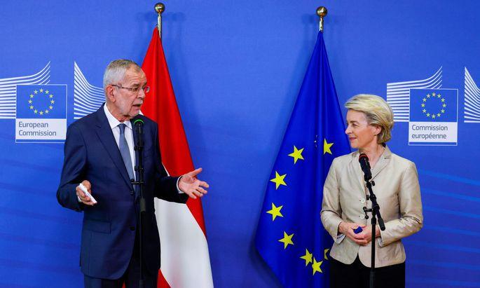 EU Commission President von der Leyen meets Austrian President Van der Bellen in Brussels