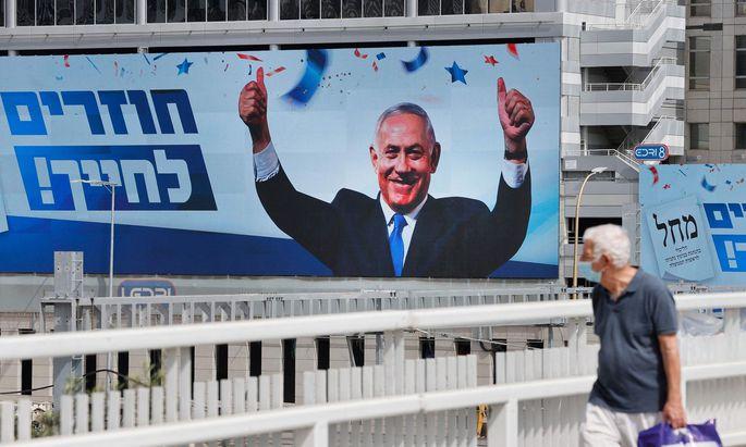 Plakat von Benjamin Netanjahu.