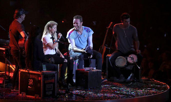Archivbild: Shakira und Chris Martin (Coldplay)