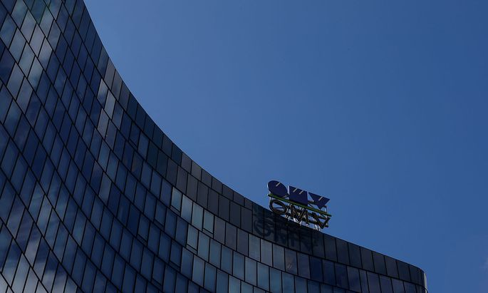 FILE PHOTO: The logo of Austrian oil and gas group OMV is pictured at the rooftop of its headquarters in Vienna