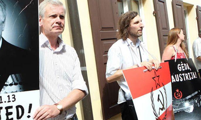 KGBAffaere Proteste oesterreichs Botschaft