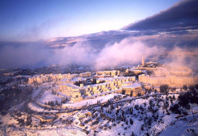 Der Campus auf dem Skopusberg ist einer der Lieblingsorte von Michael Kuba an der Hebrew University in Jerusalem.