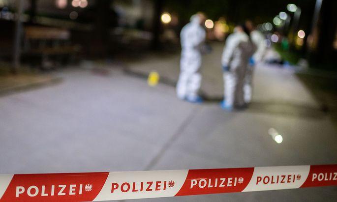 Ein Bild des letzten Tatorts in Wien, erst vor zwei Wochen wurde eine Frau erschossen.