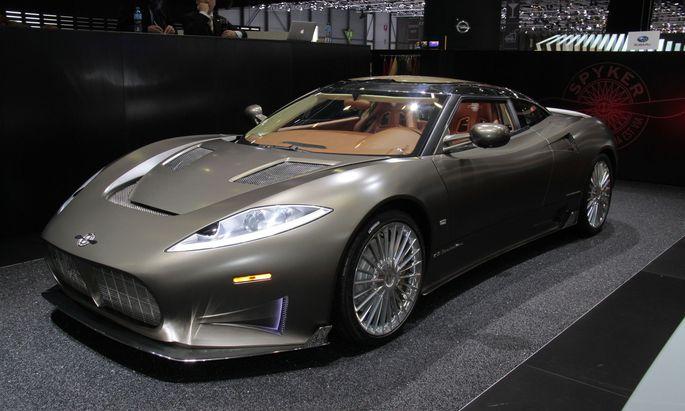 Genf, 2016: Während sich die Studie des Spyker C8 sehen lassen konnte, traf das auf ein Serienmodell nicht zu.