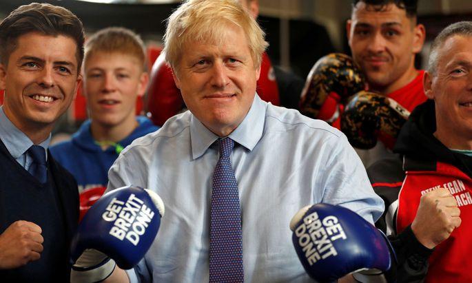 """""""Get Brexit Done"""" – so lautet das Wahlkampfcredo von Premier Boris Johnson."""